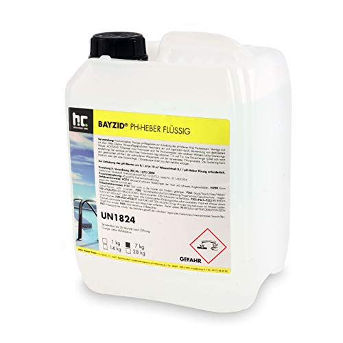 Höfer Chemie 1 x 7 kg Pool pH Heber Plus flüssig - Original Top Wasserqualität im Pool
