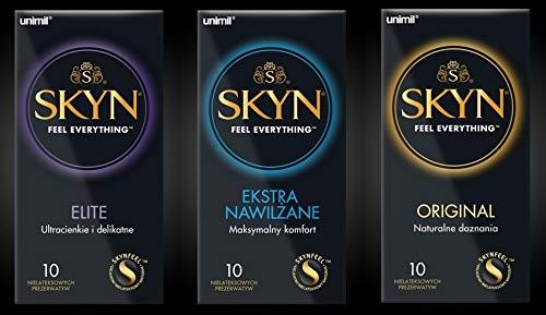 Skyn® ELITE 10 Stück, Skyn® ORGINAL 10 Stück Skyn® EXTRA LUBRICATED 10 Stück guter Mix TOP Präservativ! latexfrei