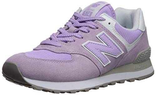 New Balance Women's 574 V2 Essential Sneaker, Violet Glo/Whit, 5 W US