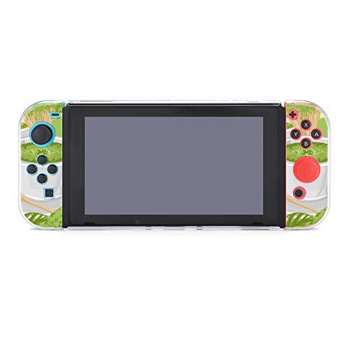 Hülle für Nintendo Switch Weiß Runde Tassen Matcha Tee umgeben Grün Fünfteiliges Set Schutzhülle Case Kompatibel mit Nintendo Switch Spielkonsole