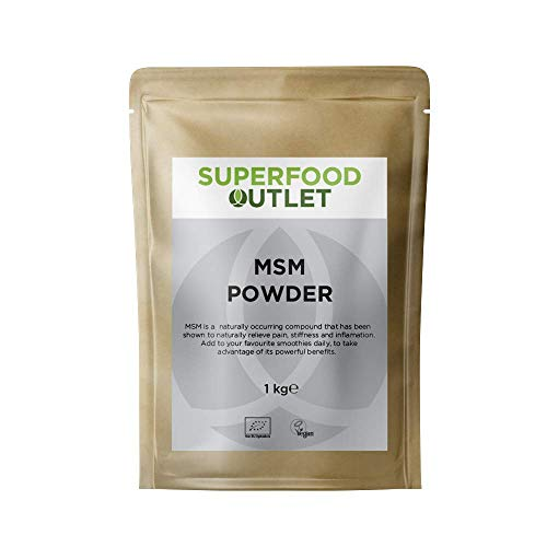 Superfood Outlet MSM | Methylsulfonylmethane Powder 1kg | Sulphur for Joint, Hair, Nails | Non GMO | Vegan