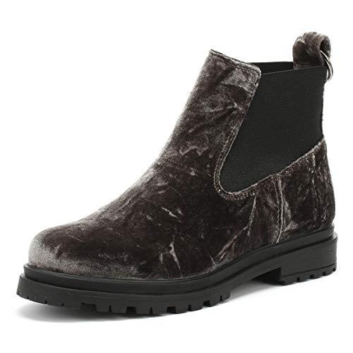 Shoe the Bear Akira Femmes Dark Gris Velvet Bottes-UK 7