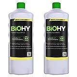 BiOHY Teppichshampoo (2x1l Flasche) | Teppichreiniger ideal zur Entfernung von hartnäckigen Flecken | SPEZIELL FÜR WASCHSAUGER ENTWICKELT