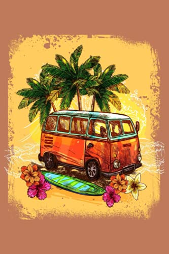 Campervan Surfing Summer Journal For Surfers: on the road, on the road again, travel, traveling, nomad, car, wagon, round the world