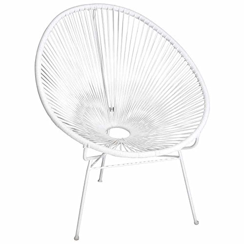Papillon Chaise de Jardin rotin Filo Blanc