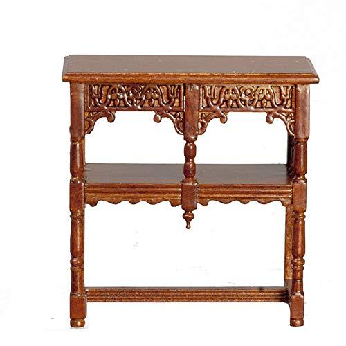 Melody Jane Dollhouse Walnut Spanish Court Cabinet Table C1600 Miniature JBM Furniture