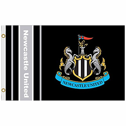 Newcastle United Giant Football Crest Flag (5ft x 3ft & 100% Polyester)