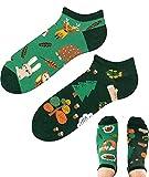 TODO Colours Lustige Socken mit Motiv - Mehrfarbige, Bunte, Verrückte für die Lebensfreude (35-38, z LOW Forest Animals, numeric_35)