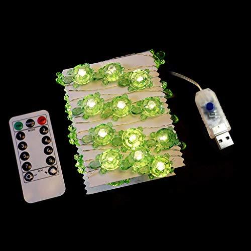 Lailongp Guirnalda decorativa con diseño de tortuga, 40 ledes, funciona con pilas, 8 modos.