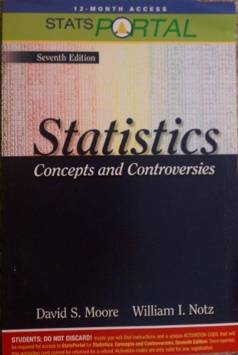 Statsportal for Statistics Concepts and Controversies, Seventh Edition (Access Card)