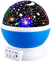 Star Night Lights for Kids, Star Moon Nightlight Projector Rotating Galaxy Starry Nursery Lamp for Kid Bedroom Toys for Little Boys Girls 3 4 5 6-12 Year Old Girls Boy Gift Christmas Xmas Gifts Blue