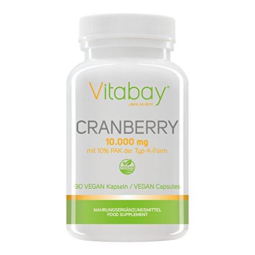 Vitabay Estratto di Mirtillo 10.000 mg con PAC al 10% (Proantocianididi) • 90 Capsule Vegane • Per Uomini e Donne