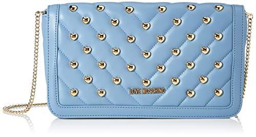 Love Moschino Damen Jc4237pp0a Clutch, Blau (Light Blue Matt), 6x14.5x26 Centimeters