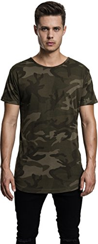 Urban Classic Herren Shaped Long Tee T-Shirt, Mehrfarbig (Olive Camo 775), Medium