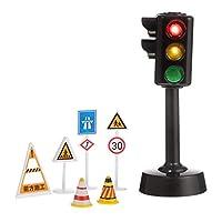 NUOBESTY ミニ交通標識プレイセット交通ライト教育記号セット建設おもちゃ子供道路標識ためプレイセット幼児交通ロールプレイのおもちゃランダムな色