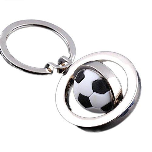 Portachiavi, gioielli in borsa, a forma di pallone da calcio, in acciaio INOX