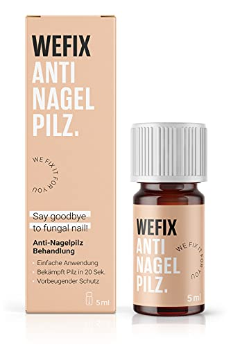 WeFix® Anti Nagelpilz Lack 5 ml | Stoppt Nagelpilz in 20 Sekunden | Vorbeugender Schutz | Anti Nagelpilz Behandlung | Nagelpilz Creme Alternative
