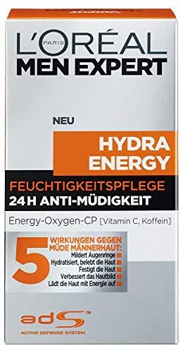 L'Oreal Men Expert Hydra Energy 24H anti-vermoeidheid, 50 ml: vochtverzorging voor mannen met Vitam C