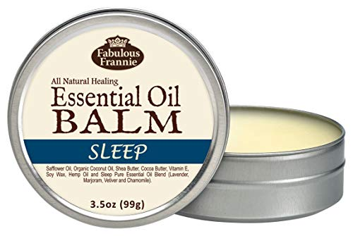 Fabulous Frannie Sleep All Natural Essential Oil Healing Balm made with Organic Coconut Oil, Shea Butter, Cocoa Butter…