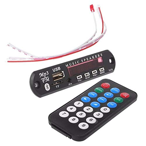 SODIAL Bluetooth Inalámbrico Remoto Mp3 Wma Decodificador Placa Audio Módulo USB TF Radio Dc12V