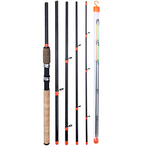 Sougayilang Feeder Rod mit 3 Spitzen Tragbare Angelrute Spinning Casting Travel Rod Vollsortiment Action Karpfen Grobrute