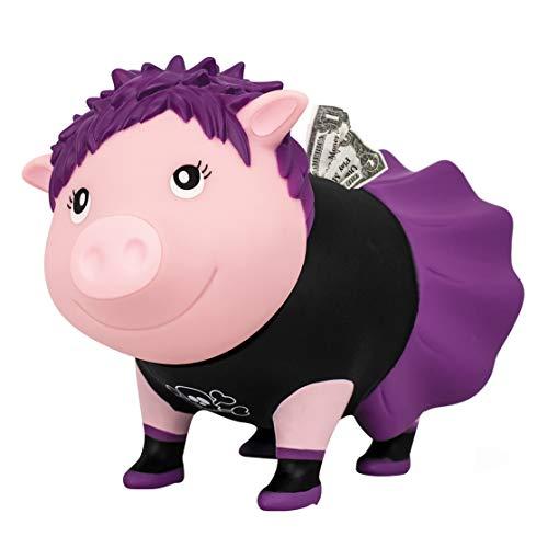 LILALU Spardose BIGGYS Punkerin, Sparschwein Kopf drehbar Sparbox Sparbüchse Münzeinwurf Piggy Bank Tresor Kinder