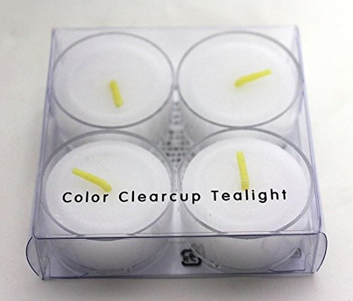 力広い繁雑カメヤマキャンドル(kameyama candle) カラークリアカップティーライト4個入り 「 クリア 」