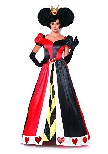 Leg Avenue Women's Disney 2 Piece Queen Of Hearts, Black/Red, Medium