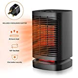 Portable Electric Ceramic Space Heaters, 2 in1 2SPersonal Heater Fan with Auto Oscillating