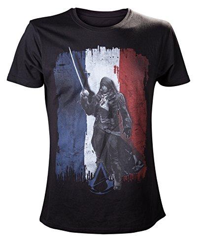 Assassins Creed : Unity Tricolore T-Shirt - Size L [import anglais]