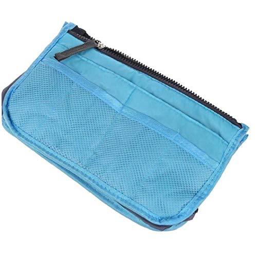 Multi-Function Thickening Handbag Organiser High-Capacity Portable Liner Tidy Travel Cosmetic Pocket Insert 12 Pockets Blue Cosmetics Supply
