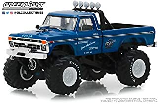 New DIECAST Toys CAR Greenlight 1:64 Kings of Crunch Series 3-1974 Ford F-250 Monster Truck (Blue) 49030-A