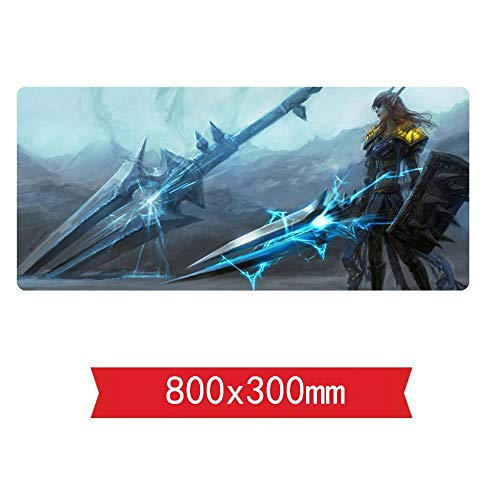 Muismat, Warcraft War Mouse Mat gaming, 800 x 300 x 3 mm, anti-slip rubberen basis, perfecte precisie en snelheid, compatibel met laser en optische muis, C