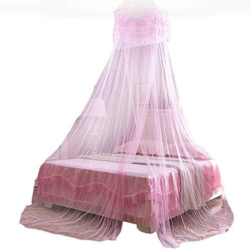 Demarkt klamboe reis muggennet bed tweepersoonsbed eenpersoonsbed baldakijn insectennet voor thuis Hellrosa 60 x 260 x 1100 cm.