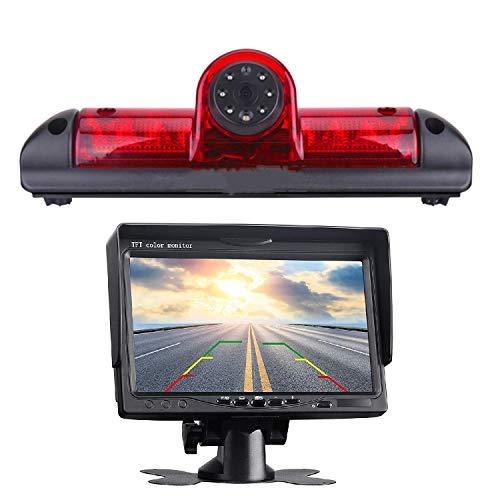 Kit per il parcheggio del tetto, telecamera posteriore integrata in 3° luce del freno, kit fotocamera specifica per veicolo Boxer Ducato Jumper + monitor DVD TFT da 7,0 pollici