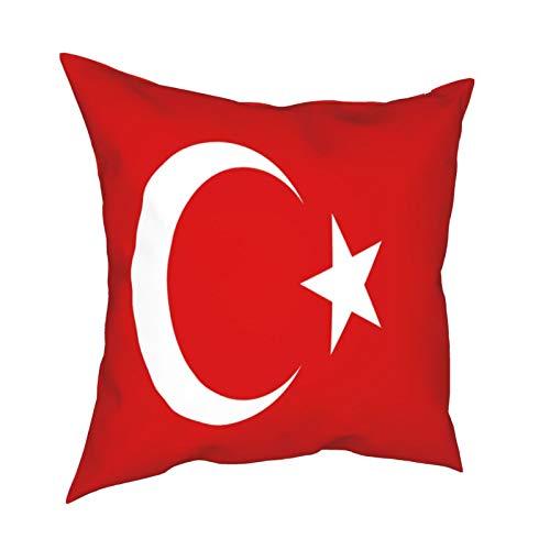 Pillowcase Fundas de Almohada 45x45CM La Bandera Nacional de Turquía. Decoración para el hogar Decoración Oficina Sofá Holiday Bar Café Boda Coche