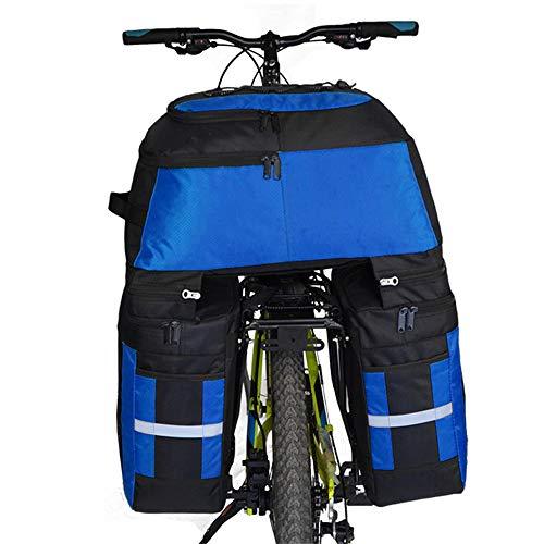 Lightinthebox FJQXZ 70L Bike Panniers Bag,Bike Rack Bag 3 in 1 Waterproof Cycling Bike Bag (Blue)