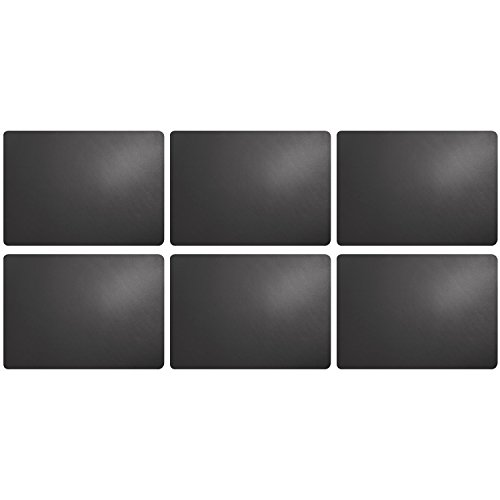 ASA Selection 7807420 table top Lederoptik Tischset, 46 x 33 cm, Kunststoff, basalt (6 Stück)