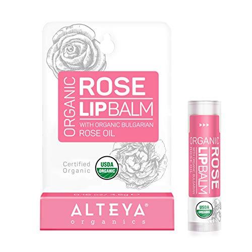 Alteya Organic Bálsamo Labial de Rosa 5 gr – USDA Certificado Orgánico...