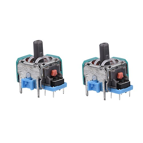 Cuifati Replacement Controller Joystick for PS4,2 Pcs Analog Stick 3D Joystick Replacement,3D Replacement Joystick Analog Thumb Stick,3D Wireless Joystick Analog Thumb Stick PS4 Controller