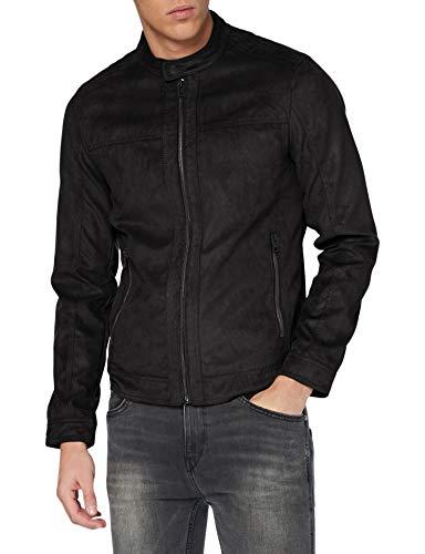 Jack & Jones JJEWARNER Jacket Noos Chaqueta de Cuero sinttico, Negro, XL para Hombre