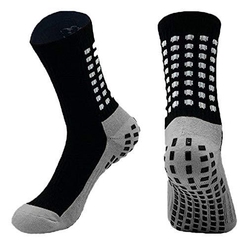 Calcetas Antideslizante Medias Calcetines Ideales para Futbol, Basketball, VoleyBall, La mejor tecnología Antideslizante. (Negro)