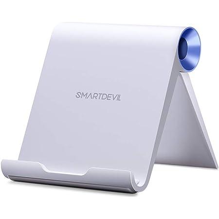 スマホスタンド SmartDevil スマホホルダー 携帯電話スタンド すまほすたんど卓上 iPhone 12/mini/Pro/ProMax スタンド 折りたたみ式 角度調整可能 4~7インチのiPhone Sony Xperia, Nexus Androidスマホ タブレットに適用 スマホホルダー【青い丸】