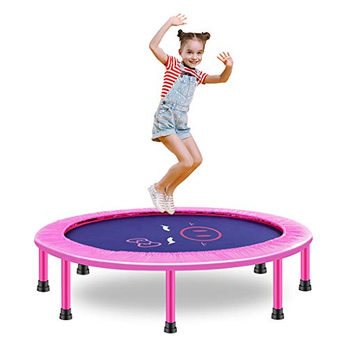 Portable & Foldable Trampoline - 39Inch In-Home Mini Rebounder, Fitness Body Exercise with Tough Springs Safety Pad, for Indoor Outdoor Cardio Training