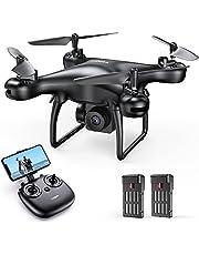 Tomzon D28 1080P HD Drone con Telecamera per Principianti, Drone WiFi FPV 2.4Ghz, Un Clic Decollo/ Atterraggio, Vibrazione 3D, Sensore di Gravità, Modalità Senza Testa, Mini Drone per Bambini e Adulti