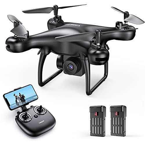 Tomzon D28 1080P HD Drone con Telecamera per Principianti, Drone WiFi FPV 2.4Ghz, Un Clic Decollo  Atterraggio, Vibrazione 3D, Sensore di Gravità, Modalità Senza Testa, Mini Drone per Bambini e Adulti