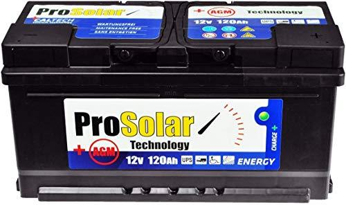 Solarbatterie 120Ah AGM 12V Versorgungsbatterie Wartungsfrei Statt 150Ah 140Ah 110ah