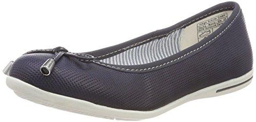 Indigo Schuhe Damen 422 302 Geschlossene Ballerinas, Blau (Navy), 38 EU