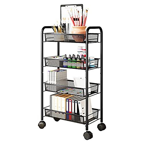 AIYAKA 4-Tier Metal Utility Rolling Storage Craft cart Only $27.59 (Retail $45.99)