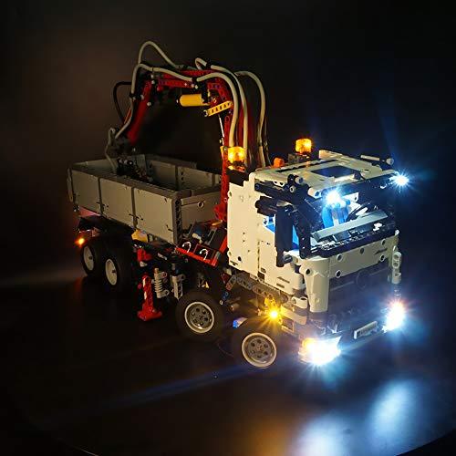 LODIY Beleuchtung Licht Set für Lego Technik Mercedes Benz Arocs 3245, LED Beleuchtung für Lego 42043 (Nicht Enthalten Lego Modell)
